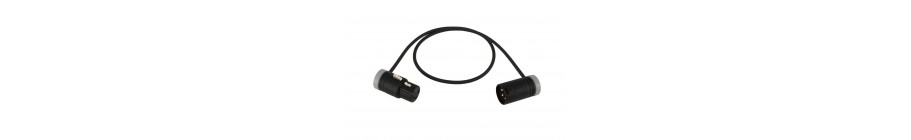 Low-Profile Cables (XLR-F to XLR-M)